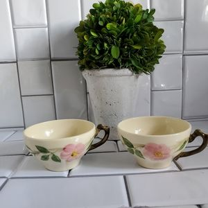 Lot of 2 Tea Cups 'DESERT ROSE BY FRANCISCAN' Lot